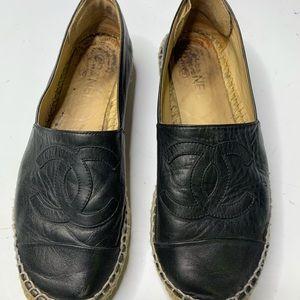 Chanel Black Espedrilles